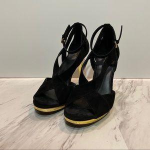Michael Kors Black Platform Pump Heel
